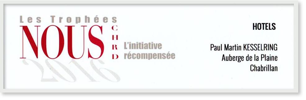 Certificat 1er prix 2016 NOUS CHRD